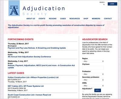 Adjudication Society website